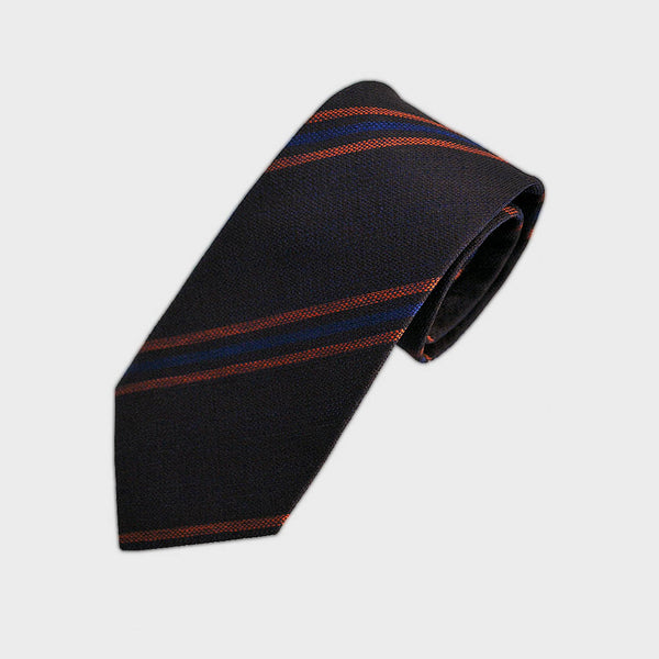 Autumnal Stripes Silk Tie