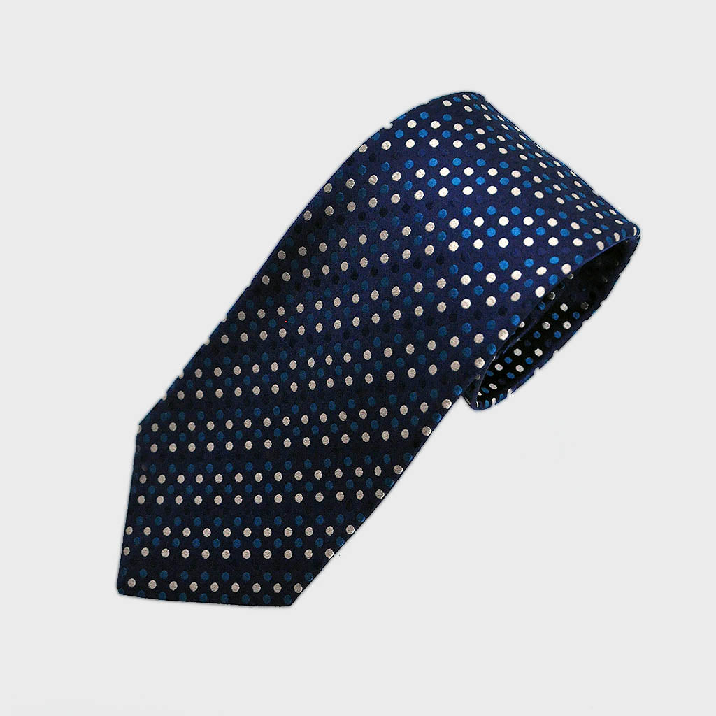 Dapper Dots Woven Silk Tie in Blues
