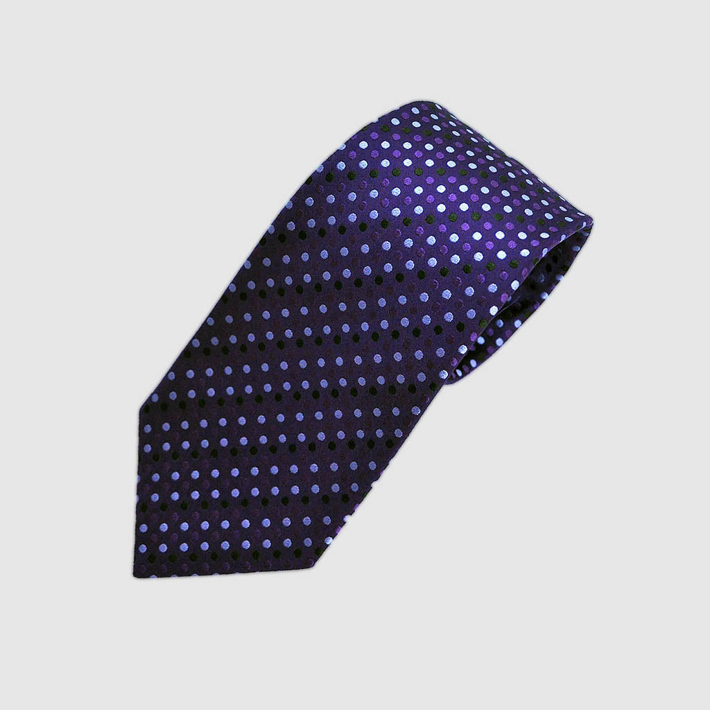 Dapper Dots Woven Silk Tie in Purple