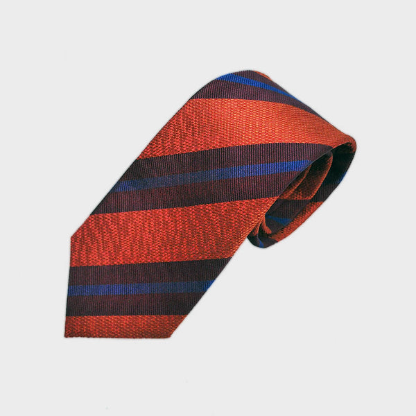 Autumn Stripes Tussah Silk Tie