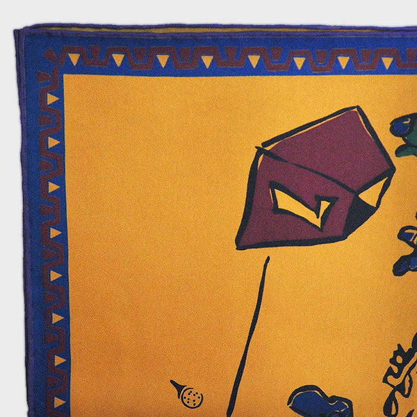English Silk Tee-off Pocket Square