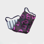 Geo's Woven Silk Face Cover in Purple & Pink