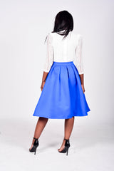 Going in Circles Flare Midi Skirt