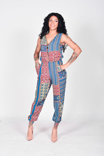 Jaded Print Jumpsuit