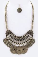 Coin Necklace & Earrings Set