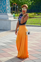 High-Waisted Mustard Palazzo Pants