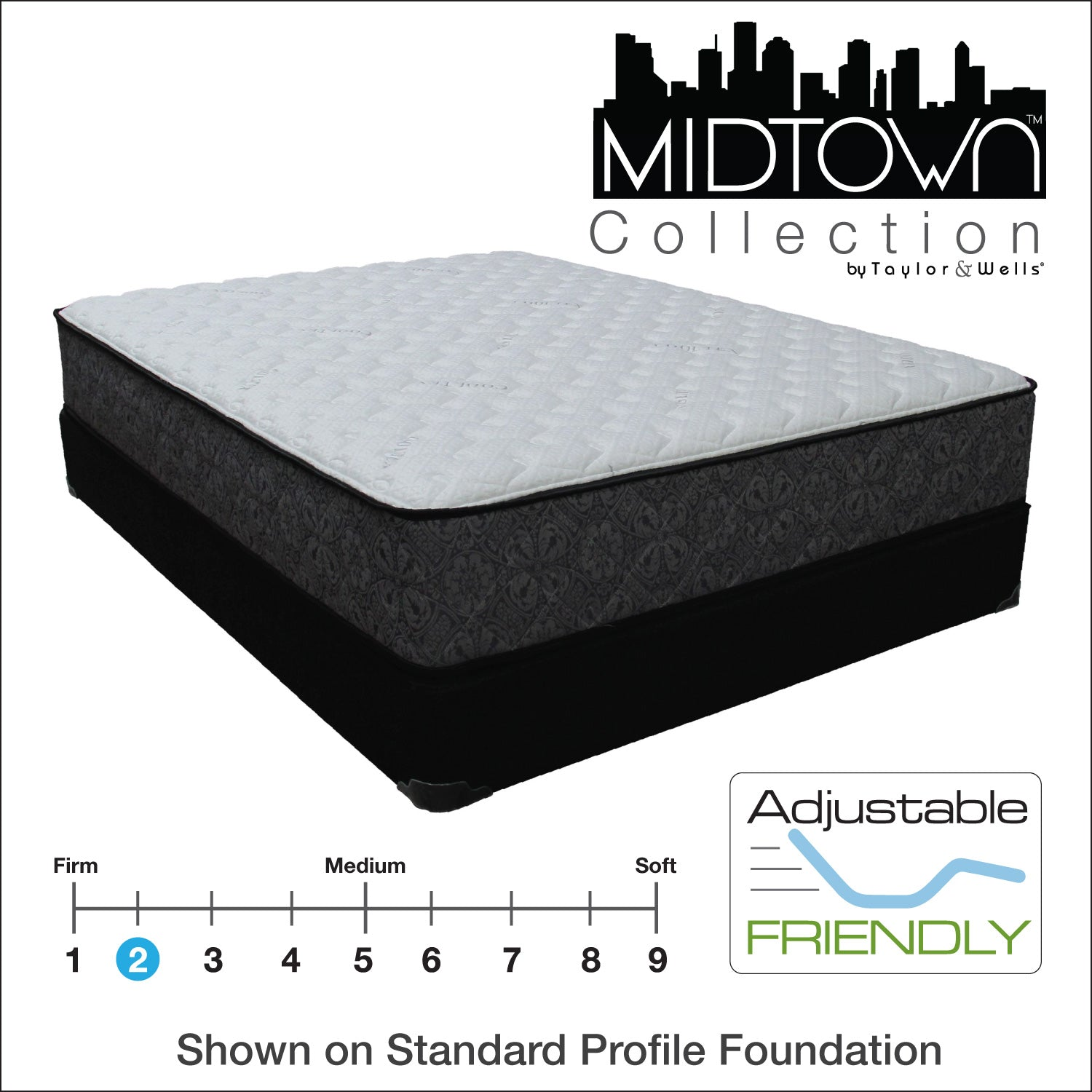 "Kips Bay 12"" Extra Firm Hybrid Mattress"