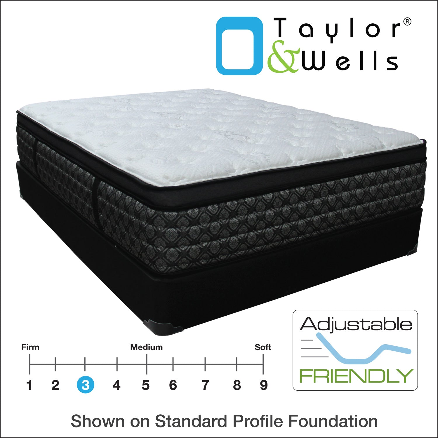 "Taylor & Wells® 14"" Arctic Bay Luxury Firm Euro Top Mattress"