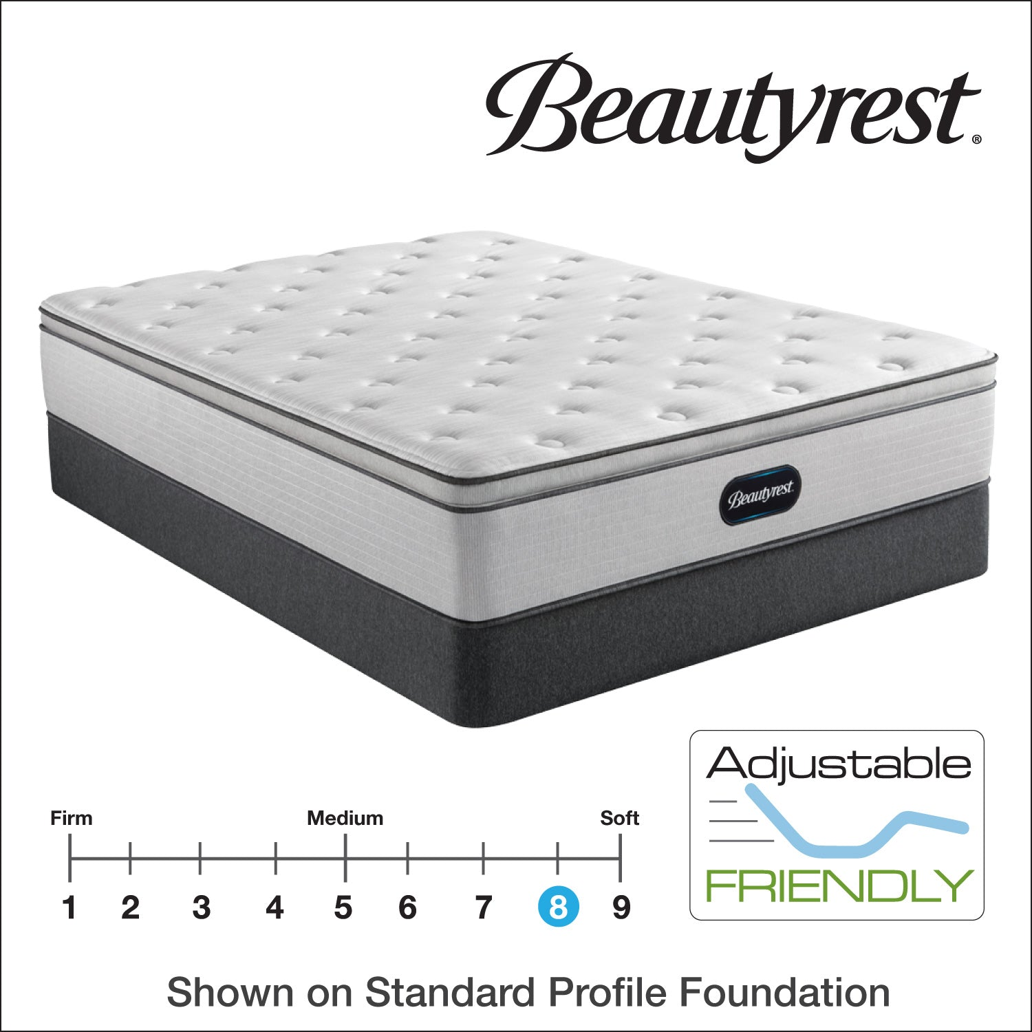 Beautyrest 13 5 Br800 Plush Pillow Top Mattress Bedding Mart