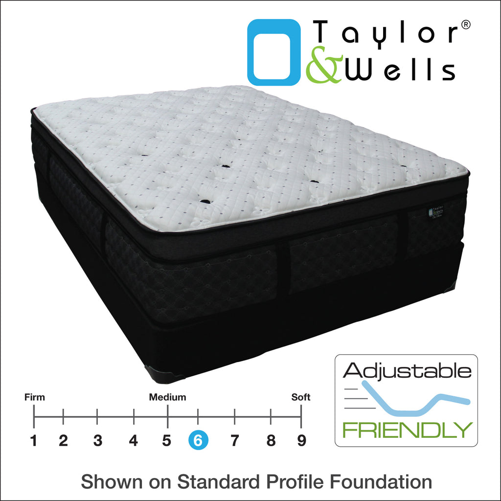 "Taylor & Wells® 14"" Glacier Euro Pillow Top Mattress"