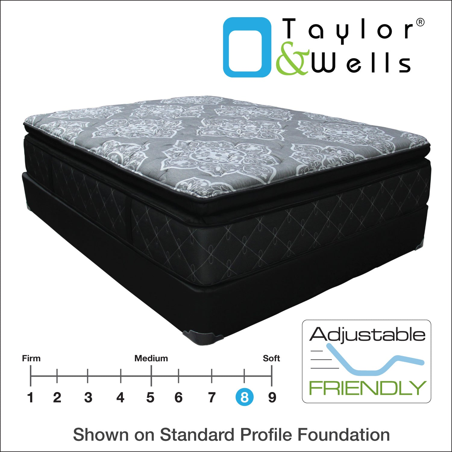 "Taylor & Wells® 14.5"" Glennview Super Pillow Top Mattress"
