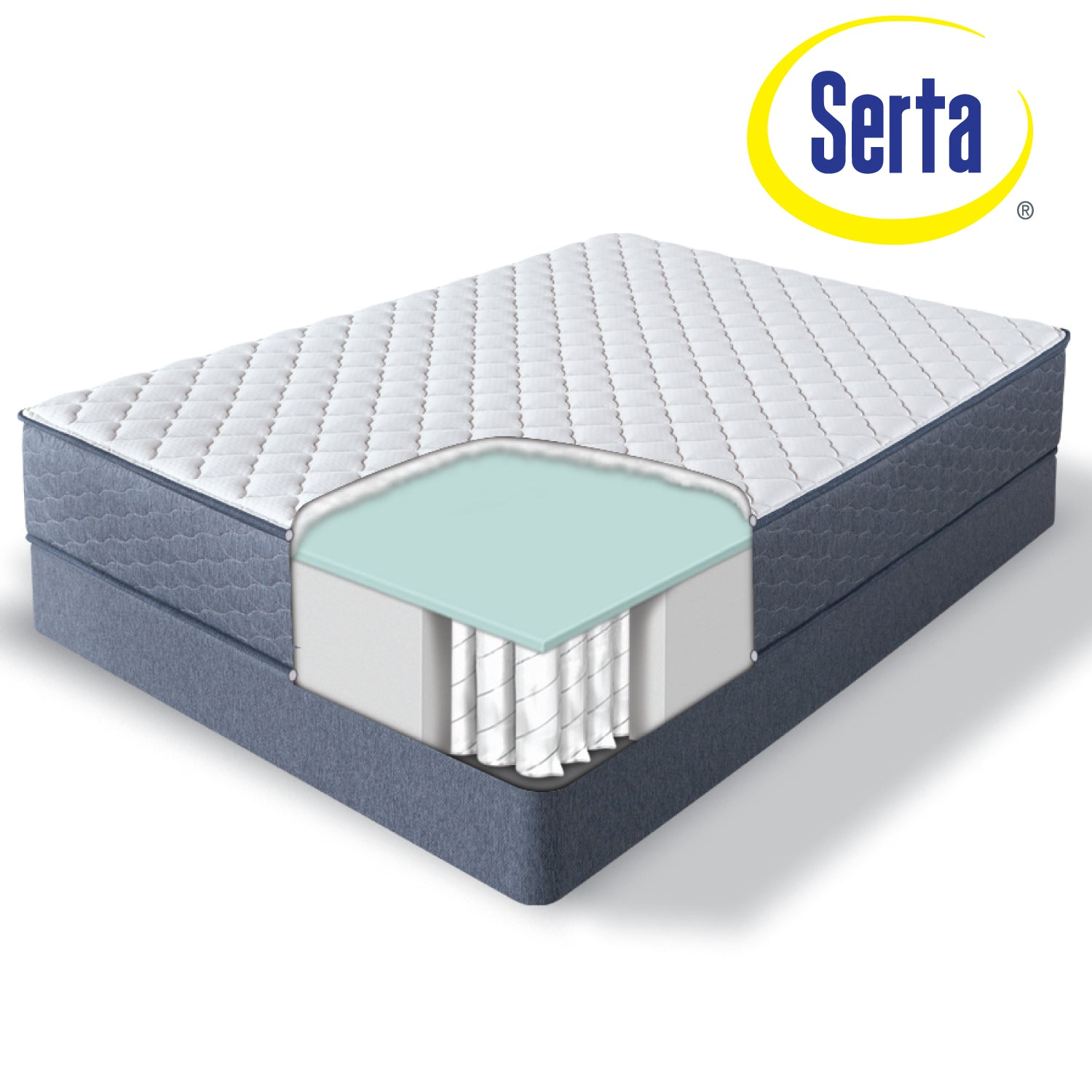"Serta 11"" Malloy Firm (In-Store Pickup Only)"