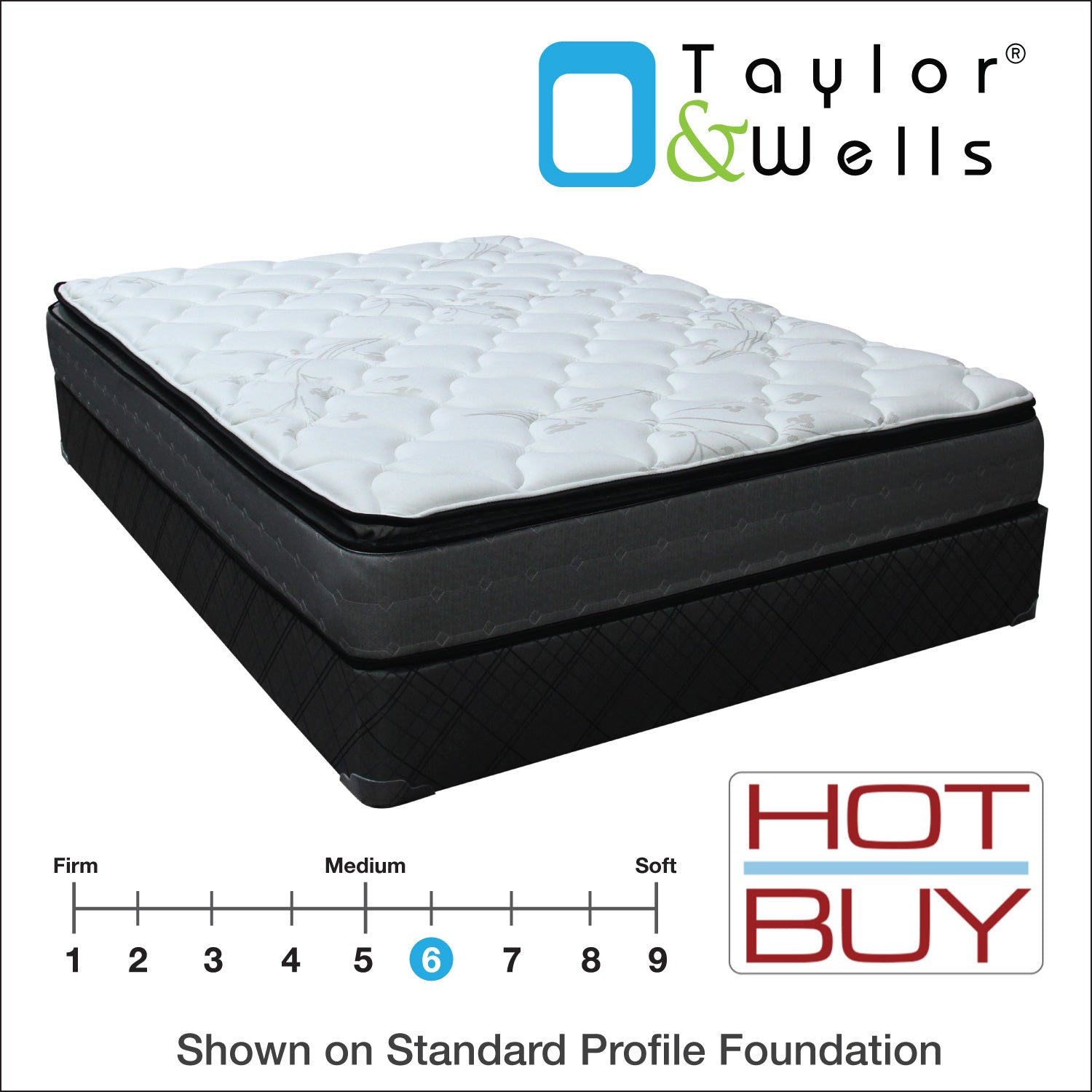 "Taylor & Wells® 10"" Richardson Pillow Top Mattress"