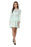 Ftrendy Light Blue Frock Dress