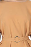 Ftrendy Light Orange Belt Dress