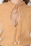 Ftrendy Light Orange Keyhole Top
