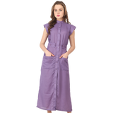 Ftrendy Purple Shirt Dress