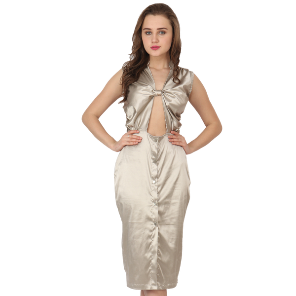 Ftrendy Twisted Knot Silver Dress