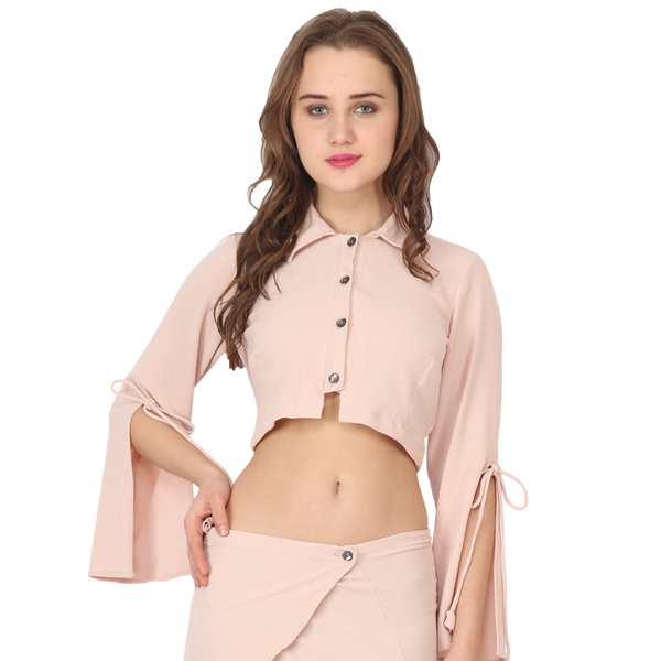 Ftrendy Light Pink Button Top