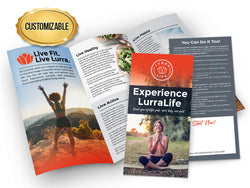 Experience LurraLife Brochures - Customized Large Pack
