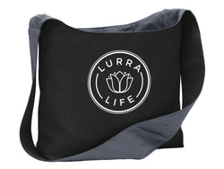 LurraLife Large Cotton Canvas Sling Bag