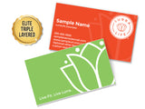 Business Card Design 02 - Elite (Triple-Layered)