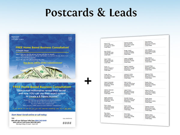 Call Center Postcards & Leads – Design 7 (with your PIN & URL added)