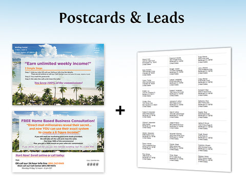 Call Center Postcards & Leads – Design 6 (with your PIN & URL added)
