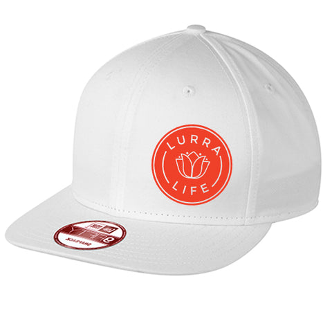 LurraLife New Era Flat Bill Snapback Cap - White