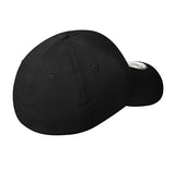 O2 Curved Bill Fitted Stretch Cap - Black
