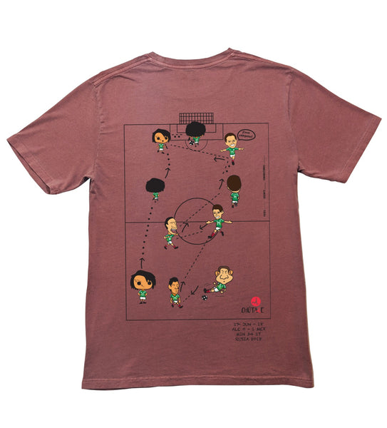 Gol México vs Alemania en Rusia - Playera Color Ladrillo - Bolsillo Blanco