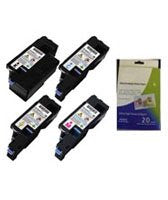ValuePack Set(4 Count): Includes Compatible Replacement Dell Drums for select Printers / Faxes Compatible with Dell 1250c, 1350cnw, 1355cn, 1355w-Includes 1 Set of BLACK, MAGENTA, YELLOW and CYAN Cartridges.