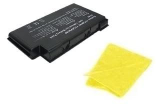 Amsahr® Replacement Battery for Fujitsu BP105, LifeBook: N6010, N6200, N6210, N6220, FPCBP105, FPCBP105AP, FPCBP92, FPCBP92AP (12 Cell, 6600 mAh) - Includes Cleaning Cloth