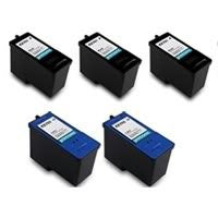 ValuePack Set(5 Count): Includes Remanufactured Replacement Dell Ink Cartridges for select Printers / Faxes Compatible with Dell Series 11, Lexmark 42, KX701, JP451, KX703, JP453-Includes Set of 5: 3 Black and 2 Color Ink Cartridges.