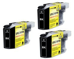 ValuePack (3 Count): Includes Compatible Replacement Brother Ink Cartridges for select Printers / Faxes Compatible with Brother DCP-J152, MFC-J285, J450, J470, J475, J650, J6520, J6720, J6920, J870, J875, LC103BK-Includes THREE BLACK Cartridges.