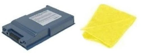 Amsahr® Replacement Battery for Fujitsu BP64, Lifebook: S2000, S2020, S6120, S6120D, S2010, S6110, FPCBP64, FPCBP64AP, FPCBP64Z (6 Cell, 4400 mAh) - Includes Cleaning Cloth