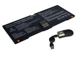 Amsahr® Replacement Battery for HP 5330M, FN04, HSTNN-DB0H, QK648AA (4 Cell, 2800 mAh) - Includes Mini Optical Mouse