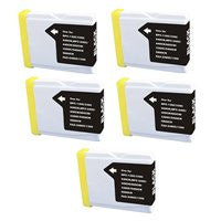 ValuePack (5 Count): Includes Remanufactured Replacement Brother Ink Cartridges for select Printers / Faxes Compatible with Brother DCP-130C, 540CN, MFC-240C, 440CN, 665CW, 845CW, 3360C, 5460CN, 5860CN, LC51BK- Includes FIVE BLACK Cartridges.