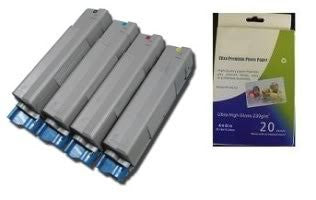 ValuePack Set(4 Count): Includes Remanufactured Replacement Okidata Drums for select Printers / Faxes Compatible with Okidata C5500n, C5800Ldn, 43324401, 43324402, 43324403, 43324404-Includes 1 Set of BLACK, MAGENTA, YELLOW and CYAN Cartridges.