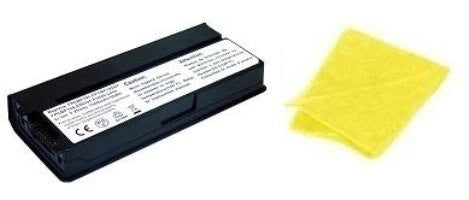 Amsahr® Replacement Battery for Fujitsu FPCBP194, FPCBP195, FPCBP195AP, LifeBook: P8010, P8020, SIEMENS LifeBook P8010, S26391-F5049-L400 (6 Cell, 6600 mAh) - Includes Cleaning Cloth