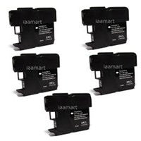 ValuePack (5 Count): Includes Compatible Replacement Brother Ink Cartridges for select Printers / Faxes Compatible with Brother High Capacity, DCP-6690 CW, MFC-5890CN, MFC-6490CW, LC65BK- Includes FIVE BLACK Cartridges.