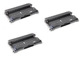 Amsahr Brother DR400, DR500, DR510, 1250 Compatible Replacement Toner Drums - Includes THREE Drums.