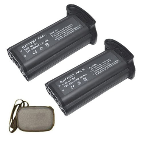ValuePack (2 Count): Extended Life Replacement Battery for Specific Digital Camera and Camcorder Models / Compatible with Canon NP-E3, 7084A001, 7084A002, EOS 1D, EOS 1Ds, EOS 1D Mark II, EOS 1D Mark II N, EOS 1Ds Mark II - Includes Hard Case Camera Bag