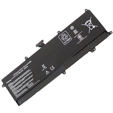 Amsahr® Superior Quality Replacement Battery for ASUS S200E, X202E, X201E, C21-X202 (2 Cell, 5136 mAh)