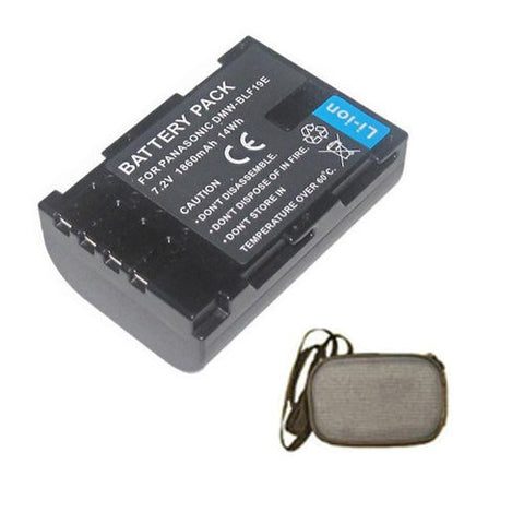 Extended Life Replacement Battery for Specific Digital Camera and Camcorder Models / Compatible with Panasonic DMW-BLF19, DMW-BLF19E, Lumix DMC-GH3, DMC-GH3A, DMC-GH3AGK, DMC-GH3GK, DMC-GH3H, DMC-GH3HGK, DMC-GH3KBODY - Includes Hard Case Camera Bag