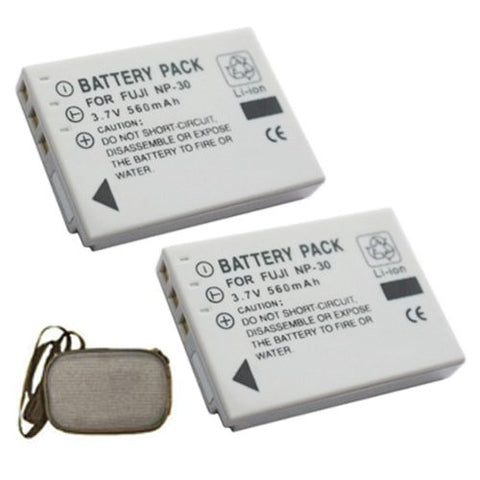 ValuePack (2 Count): Extended Life Replacement Battery for Specific Digital Camera and Camcorder Models / Compatible with FujiFilm NP-30, NP30, FinePix F440, FinePix F440 zoom, FinePix F450, FinePix F450 zoom - Includes Hard Case Camera Bag