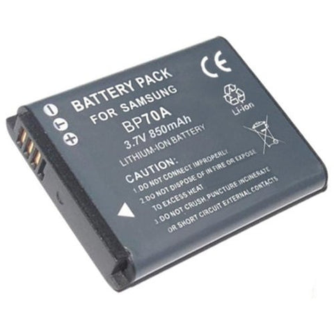 Extended Performance Replacement Battery for Specific Digital Camera and Camcorder Models / Compatible with Samsung BP-70A, BP70A, AQ100, ES65, ES70, ES73, ES75, PL100, PL200, PL80, PL90, ST100, ST60, ST70, ST80, WP10