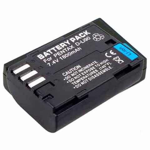 Extended Performance Replacement Battery for Specific Digital Camera and Camcorder Models / Compatible with Pentax D-LI90, DLi90, K-5, K-5II, K-5IIs, K-7, K-01, 645D
