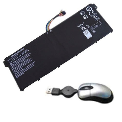 Amsahr® Replacement Battery for Acer AC14B18J, CB5-311, AC14B18J, AC14B8K (3 Cell, 3220 mAh, 36WH) - Includes Mini Optical Mouse