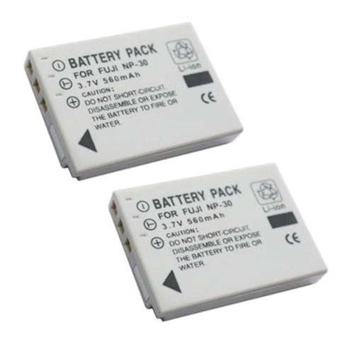ValuePack (2 Count): Extended Performance Replacement Battery for Specific Digital Camera and Camcorder Models / Compatible with FujiFilm NP-30, NP30, FinePix F440, FinePix F440 zoom, FinePix F450, FinePix F450 zoom